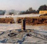 DRAINAGE GAZ DE COUVERTURE DE DECHARGE