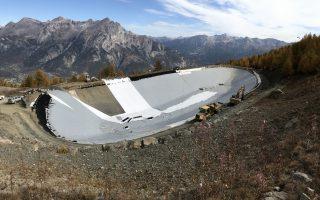 bassin de stockage d'eau ( station de Puy Saint Vincent (05) )